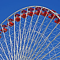 The Ferris Wheel Chicago Poster by Christine Till
