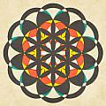 The Flower of Life 8 Print by Jazzberry Blue