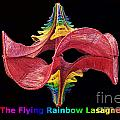 The Flying Rainbow Lasagne Print by Nofirstname Aurora