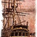The Gleaming Hull of the HMS Bounty Print by Debra and Dave Vanderlaan