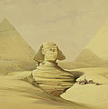 The Great Sphinx and the Pyramids of Giza Print by David Roberts