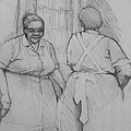 The Help - Housekeepers Of Soniat House Sketch Print by Jani Freimann