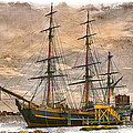 The HMS Bounty Print by Debra and Dave Vanderlaan