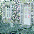 The House with Roses Print by Henri Eugene Augustin Le Sidaner