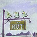 The Hut BBQ Restaurant Sign Poster by Jerry Grissom