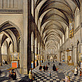The Interior Of A Gothic Church Print by Hendrik the Younger Steenwyck