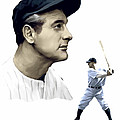 The Iron Horse    Lou Gehrig Print by Iconic Images Art Gallery David Pucciarelli