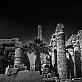 The Karnak Temple BW Poster by Erik Brede