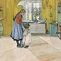 The Kitchen from A Home series Poster by Carl Larsson