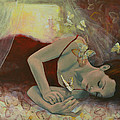 The last dream before dawn Print by Dorina  Costras