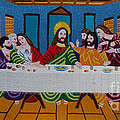 The Last Supper hand embroidery Poster by To-Tam Gerwe