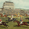 The Liverpool Grand National Steeplechase Coming In Print by Charles Hunt and Son