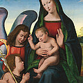 The Madonna and Child with the Young Saint John the Baptist and an Angel  Print by Giuliano Buigardini and Mariotto Albertinelli