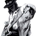 The Maestro   Stevie Ray Vaughan Print by Iconic Images Art Gallery David Pucciarelli