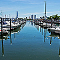 The Marina At The Golden Nugget Print by Tom Gari Gallery-Three-Photography