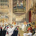 The Marriage At St Georges Chapel Print by English School