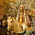 The Maying of Queen Guinevere Print by John Collier