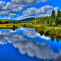 The Moose River from the Green Bridge Print by David Patterson