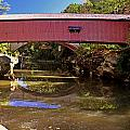 The Narrows Covered Bridge 1 Print by Marty Koch