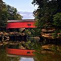 The Narrows Covered Bridge 5 Print by Marty Koch