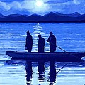 The Night Fishermen Print by SophiaArt Gallery