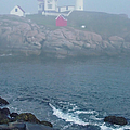 The Nubble Lighthouse at York Maine Print by Suzanne Gaff
