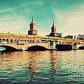 The Oberbaum Bridge in Berlin Germany Print by Michal Bednarek