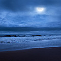 The Ocean Moon Square Print by Bill  Wakeley