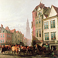 The Old Smithfield Market Print by Thomas Sidney Cooper