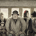The Omnibus Print by Honore Daumier