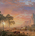 The Oregon Trail Poster by Albert Bierstadt