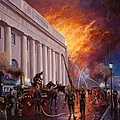 The Pantechnicon fire. 1874. Poster by Mike  Jeffries