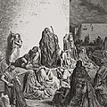 The People Mourning over the Ruins of Jerusalem Print by Gustave Dore