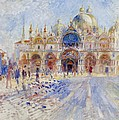 The Piazza San Marco Poster by Pierre Auguste Renoir