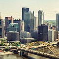 The Pittsburgh Skyline Poster by Lisa Russo