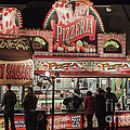 The Pizzeria in Neon Print by Janice Rae Pariza