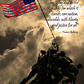 The Pledge of Allegiance - Iwo Jima 20130211v2 Print by Wingsdomain Art and Photography