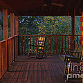 The Porch Beckons Print by Kay Pickens