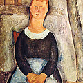 The pretty vegetable vendor Poster by Amedeo  Modigliani
