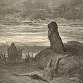 The Prophet Slain by a Lion Print by Antique Engravings