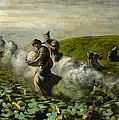The Pumpkin Harvest Poster by Giovanni Segantini
