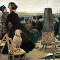 The Races at Auteuil Print by Giuseppe Nittis