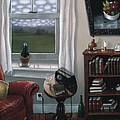 THE RED CHAIR 1997 Print by Larry Preston