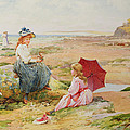 The Red Parasol Print by Alfred Glendening Jr