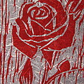The Red Rose Poster by Marita McVeigh