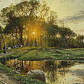 The Return Home Print by Peder Monsted