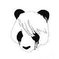 The sad panda Print by Budi Kwan
