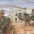 The Screaming Eagles in Vietnam Print by Bob  George