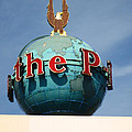 The Seattle Pi Globe Sign Poster by Kym Backland