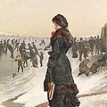 The Skater Print by Edward John Gregory